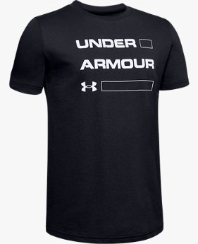 Erkek Çocuk UA Armour Stacked Kısa Kollu