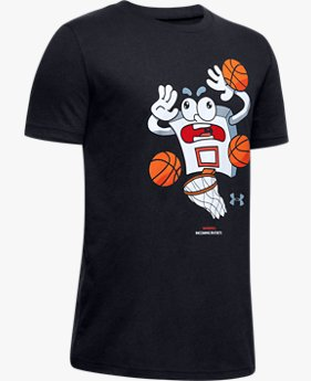 "Jungen UA T-Shirt mit Grafik ""Warning: Incoming Buckets"""