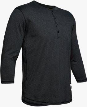 Herren Project Rock Henley-Shirt, mit ¾-Ärmeln
