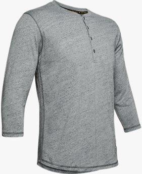 UA PROJECT ROCK 3/4スリーブ HENLEY(トレーニング/Tシャツ/MEN)