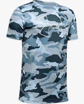UA プリント ビックロゴT(トレーニング/Tシャツ/BOYS)