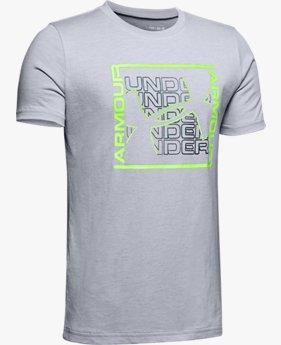 Polera manga corta UA Colorshift Box Logo para niño