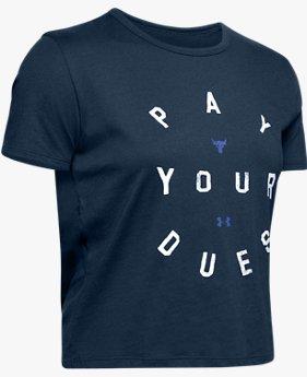 UA PROJECT ROCK グラフィック Tシャツ<DUES>(トレーニング/Tシャツ/WOMEN)