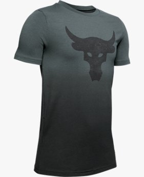 Camiseta de Treino Infantil Masculina Under Armour Project Rock Bull Graphic