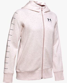 Polerón UA Rival Fleece Sportstyle LC Sleeve Graphic Full Zip para Mujer
