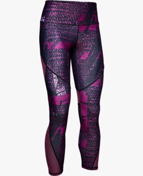 Women's HeatGear Armour® Mesh Printed Ankle Crop