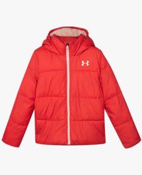 걸즈 프리스쿨 UA 브릴리언스 볼륨 퍼퍼 재킷