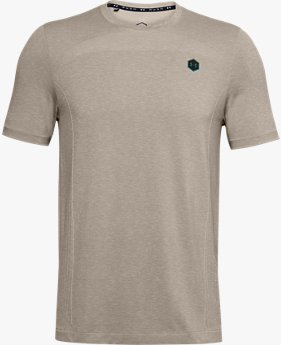 Herenshirt UA RUSH™ Seamless Fitted met korte mouwen