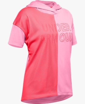 Girls' UA Tech™ Short Sleeve Hoodie