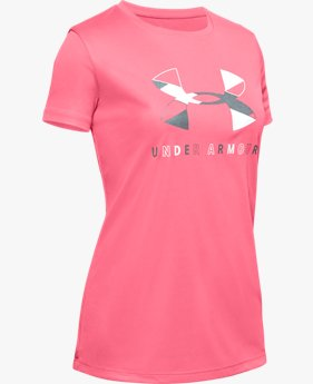 Girls' UA Tech™ Big Logo Short Sleeve
