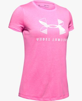 Girls' UA Big Logo Twist Short Sleeve