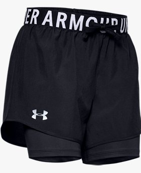 Shorts HeatGear® Armour 2-in-1 para Niña