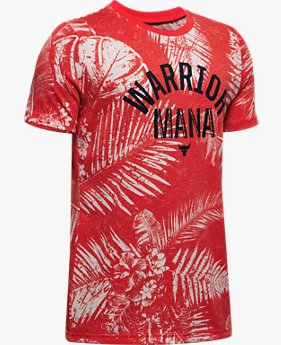 Playera Manga Corta Project Rock Warrior Mana para Niño