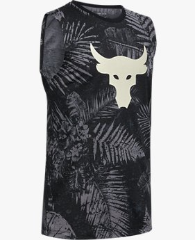 Boys' Project Rock Brahma Bull Aloha Camo Tank