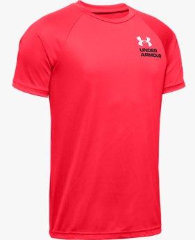 Boys' UA Tech™ Splash Chest Stripe Short Sleeve