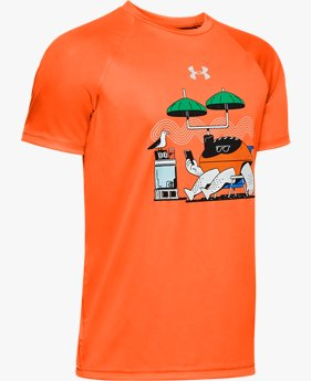 Boys' UA Tech™ Football Summer Illustration Short Sleeve