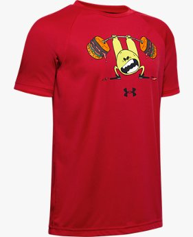 Boys' UA Tech™ Burger Emoji Short Sleeve