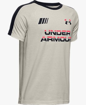 Boys UA Moto Wordmark T-Shirt