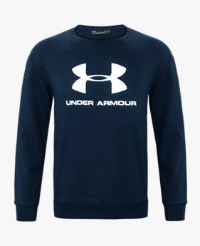 남성 UA 베이직 로고 크루 스웨트셔츠