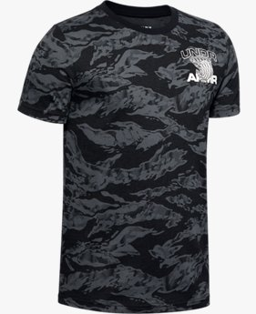 T-shirt UA AOP Camo BBall pour garçon