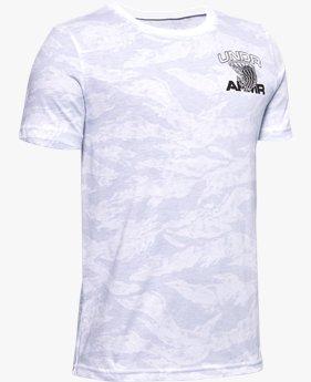 T-shirt UA AOP Camo BBall da ragazzo