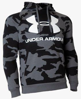 UAライバルフリース カモ ビッグロゴTシャツ(トレーニング/ロングスリーブ/MEN)