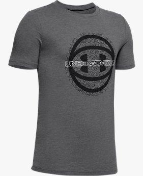 Boys' UA Basketball Logo Short Sleeve