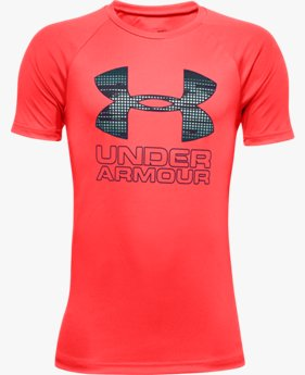 Boys' UA Tech™ Hybrid Print Fill Logo T-Shirt