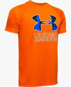 T-shirt UA Tech™ Hybrid Print Fill Logo da ragazzo