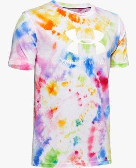 Herenshirt UA UWW Pride Tie Dye met korte mouwen