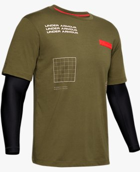 Herenshirt UA Street To Summit 2-in-1