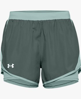 Damesshorts UA Fly By 2.0 2-in-1