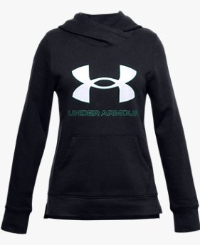 Sweat à capuche UA Rival Fleece Logo pour fille