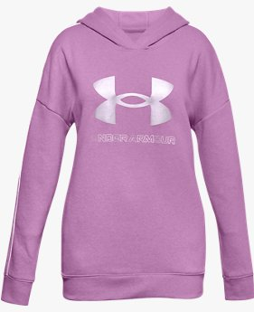 Girls' UA Rival Fleece Metallic Hoodie