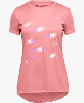 Girls' UA Tech™ Branded Short Sleeve