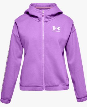 Girls' UA Rival Fleece Full-Zip Hoodie