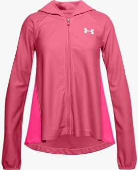 Sudadera UA Play Up Knit Full Zip para Niña