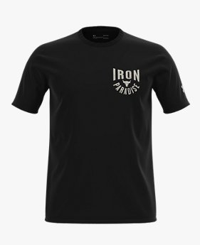 Herenshirt Project Rock Iron Paradise met korte mouwen