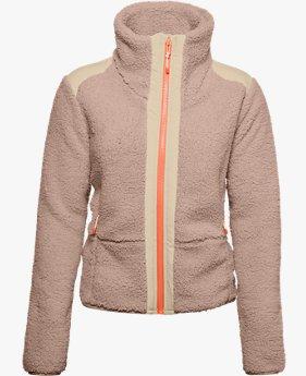 Sudadera de tejido Sherpa UA Legacy Swacket para mujer