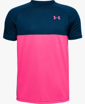 Boys' UA Tech™ Colour Block Short Sleeve