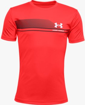 Boys' UA Tech™ Lockup Stripe Short Sleeve