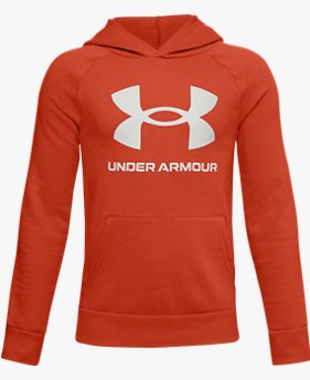Boys' UA Rival Fleece Big Logo Hoodie