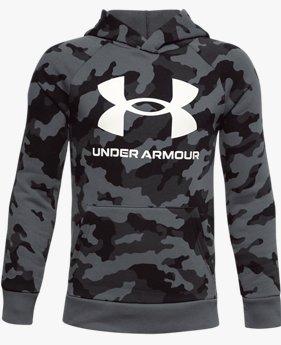 Boys' UA Rival Fleece Printed Hoodie