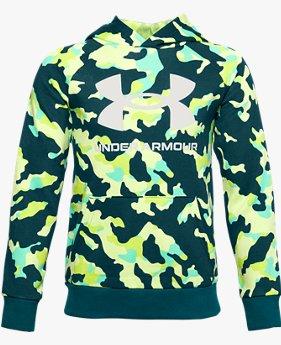 Jongenshoodie UA Rival Fleece Printed