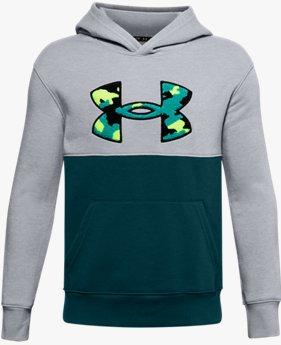 Boys' UA Rival Fleece Printed Logo Hoodie