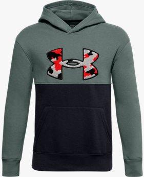 Jongenshoodie UA Rival Fleece Printed Logo