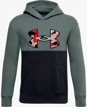 Sweat à capuche UA Rival Fleece Printed Logo pour garçon