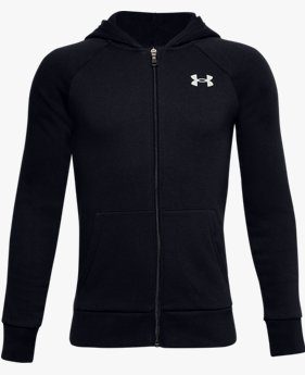 Sweat à capuche UA Rival Cotton Full Zip pour garçon