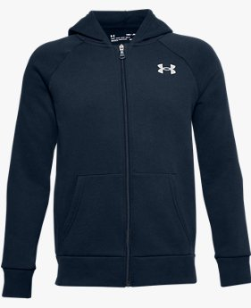 Boys' UA Rival Cotton Full Zip Hoodie