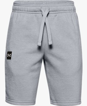 Boys' UA Rival Fleece Logo Shorts